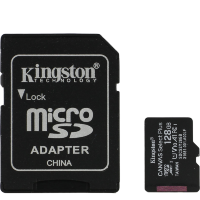 Карта памяти Kingston microSDXC 128Gb A1 V10 UHS-IU3 + SD адаптер